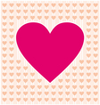 Frame border shaped from pink heart and orange vector image