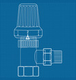 thermostat water valve icon blueprint vector image