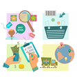 Flat design e-commerce icons vector image vector image