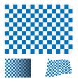 checkered blue flag vector image vector image