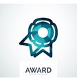 Colorful award business logo vector image