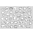 Chef toques and baker hats set vector image vector image