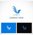 bird wing company logo vector image