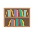 book shelf icon vector image