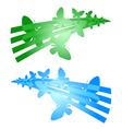 butterflies symbols vector image