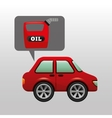 car gallon oil red icon vector image