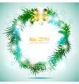 christmas garland image vector image