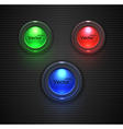 Colorful Glossy buttons lightbulb for your site vector image