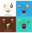 Drinks Polygonal Set vector image