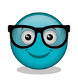 emoticon face character icon vector image