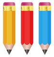 pencils colored set vector image