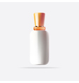 White Cosmetic Container with Orange Cap vector image