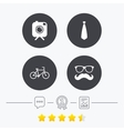 Hipster photo camera icon Glasses symbol vector image
