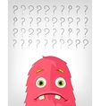 Funny Monster Thinking vector image