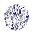 medicine doodle vector image