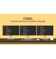 COBOL - Common Business Oriented vector image