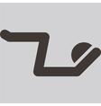 aerobics icon vector image vector image