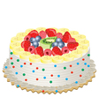 cake with fruits vector image vector image