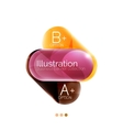 Round business infographics template buttons vector image vector image