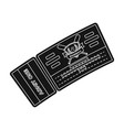 baseball ticket baseball single icon in black vector image