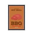 BBQ label vector image