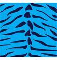blue tiger vector image