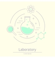 Chemicals and science icons vector image