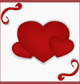 for valentine s day three hearts vector image
