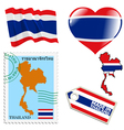 national colours of Thailand vector image