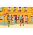People walking street color vector image