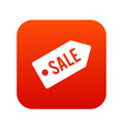 sale icon digital red vector image