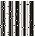 Seamless Black White Rounded Rope Lines vector image
