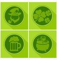 st patrick s day symbols vector image