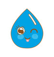 kawaii nice happy drop water vector image