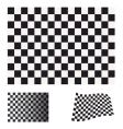 checkered flag set vector image vector image