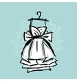 Dress on hangers sketch for your design vector image