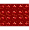 seamless red texture with hearts vector image