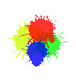 Watercolor splats isolated on white background vector image