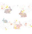 cute seamless Easter rabbit pa vector image