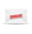 download white closed envelope vector image
