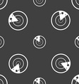 radar icon sign Seamless pattern on a gray vector image