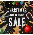 Christmas school sale vector image
