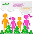 family new years background vector image