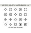 abstract geometric shape monoline 06 vector image