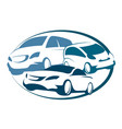 auto rental sign vector image