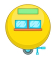 Camping trailer icon cartoon style vector image