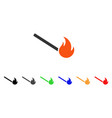 fired match icon vector image