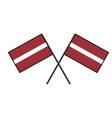 flag of latvia stylization of national banner vector image