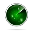 green locating radar for business vector image