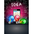 Infographic mobile teamwork and brainstorming with vector image